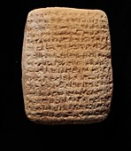 Clay tablet with cuneiform script, Late Babylonian