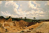 Gravel Pit on Shotover Hill, near Oxford, c1818