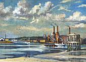 Low tide, Deptford', 1972