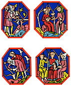 Wine making, 13th century