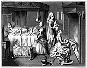 The new-born child, 15th century