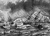 Cod fishing, Canada, 19th century