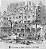 Adelaide Wharf, London Bridge, 1840