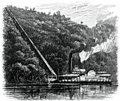 A cotton chute, United States, c1880