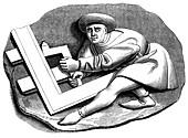 Carpenter's apprentice, 15th century