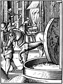 The manufacture of oil, 16th century