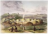Zulu Kraal near Umlazi, Natal', 1849