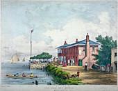 Red House Inn, Battersea, London, 1850