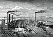 The iron and steel works at Barrow, c1880