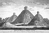 Bartlow Hills near Ashdon in Essex', c1780