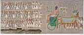 Ancient Egyptian coloured bas reliefs, 1822