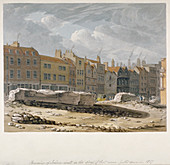Remains of London Wall, City of London, 1817