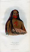Mah-to-toh-pa, 2nd Chief of the Mandans', 1848