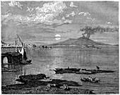 Naples and Mount Vesuvius, Italy, 19th century