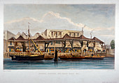 Quays, Lower Thames Street, City of London, 1841