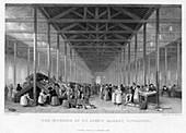 The Interior of St John's Market, Liverpool, 1834