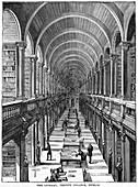 The Library, Trinity College, Dublin, 19th century
