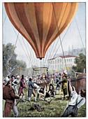 Joseph Louis Gay-Lussac's hot air balloon ascent, 1804