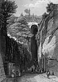 The Grotto of Posillipo near Naples, Italy, 19th century