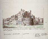 Bastion at the angle of London Wall, City of London, 1779