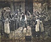 Covent Garden Scene - Women Workers Standing', c1862-1935