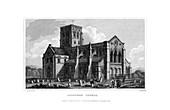 Shoreham Church, West Sussex, 1829