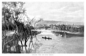 Adelaide, from the River Torrens', 1886