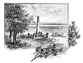 Captain Cook's landing place, Botany Bay, Australia, 1886
