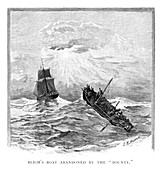 Captain Bligh's boat abandoned by the 'Bounty', 1789 (1886)