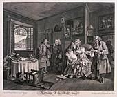 Marriage a la mode, Plate VI', 1745