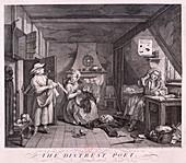 The Distressed Poet', 1740