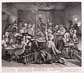 A Rake's Progress', 1735; plate VI of VIII