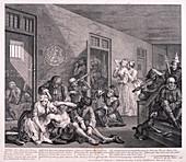 A Rake's Progress', 1763; plate VIII of VIII