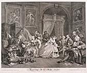 Marriage a la Mode', 1745; plate IV
