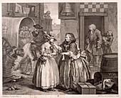 Innocence betrayed', The Harlot's Progress, 1732