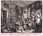 A Rake's Progress', 1735; plate I of VIII