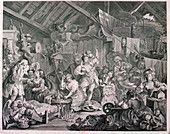 Strolling actresses dressing in a barn', 1738
