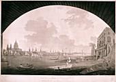 City of London from Blackfriars Bridge, 1795