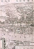 Map of London, 1560