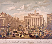 Bank of England and Royal Exchange, London, c1860