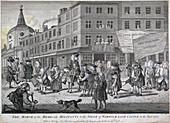 The siege of Warwick Lane Castle, London, 1768