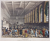 Fire at Custom House, London, 1814