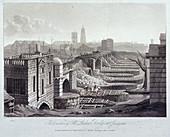 London Bridge (old), London, 1832