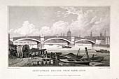 Southwark Bridge, London, 1827