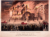 Firemen at the Cotton's Wharf Fire, London, 1861