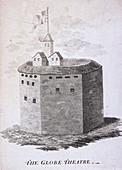 The Globe Theatre, Bankside, Southwark, London, c1647