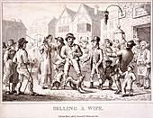 Selling a wife', Smithfield Market, London, 1816