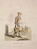 A waterman to a coach stand, Provincial Characters, 1813