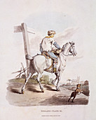 A butcher's boy riding a horse, Provincial Characters, 1813