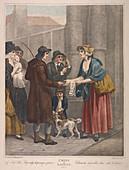 Songsheet seller, Cries of London, c1870